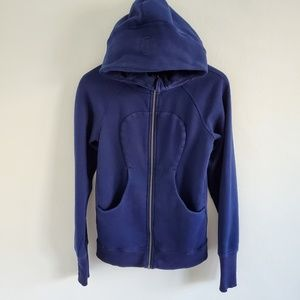 Lululemon Scuba Rolal Blue Hooded Sweater 6